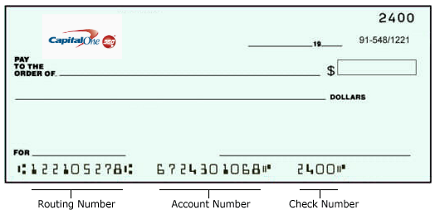 What Is Capital One Routing Number 8